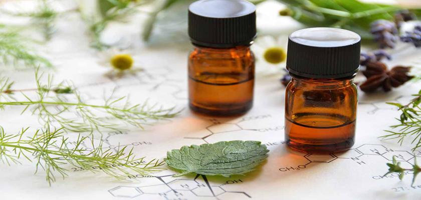 Frascos son aceites para aromaterapia