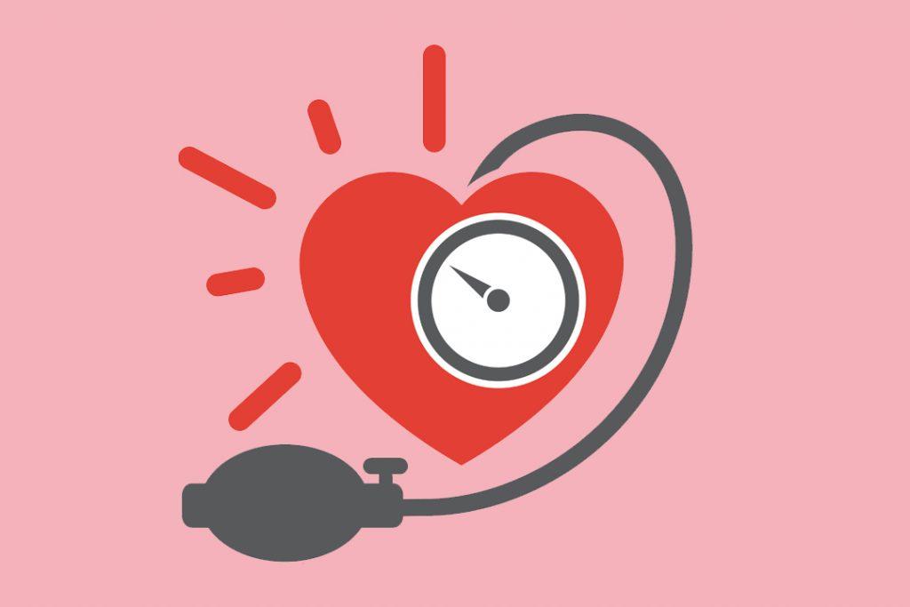 dibujo de corazon con barometro