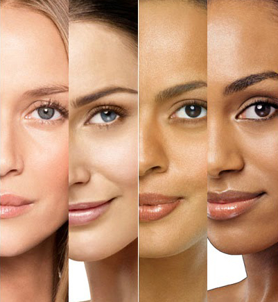 Mujeres con diferentes tipos de piel