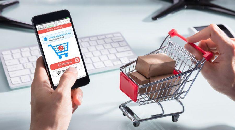 Persona haciendo compras por internet