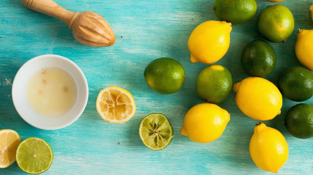 Limones enteros y partidos