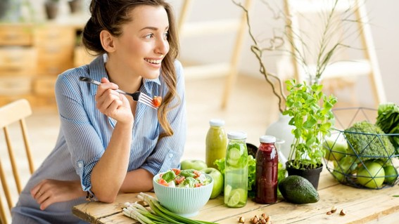 vida saludable con alimentos orgánicos