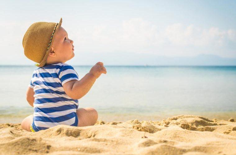 bebé con cáncer en la piel