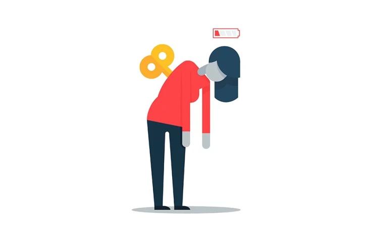 Ilustración muestra agotamiento