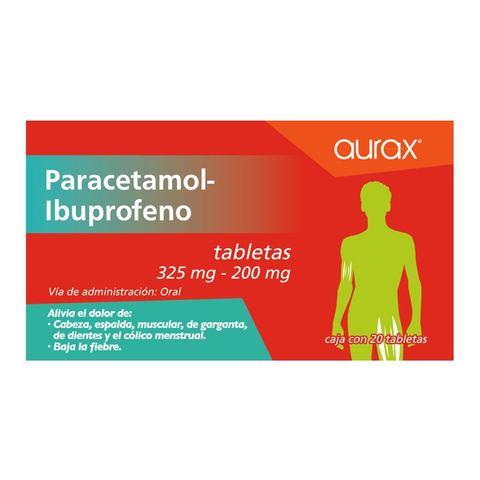 paracetamol aurax genéricos